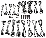 BitFenix ALCHEMY 2.0 PSU CABLE KIT for Corsair Power Supply AXi/HXi/HX,RM/Rmi/RMx/CS-M/TX-M/CX-M, for BitFenix Power Supply Whisper M , CSR-SERIES - Black/White (BFX-ALC-CSRKW-RP)