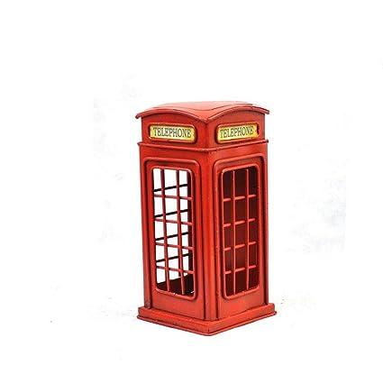 YANLIANG X & L casetas teléfono de Retro de calle modelo de hierro Hucha casa cumpleaños