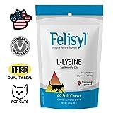 Felisyl Immune System Support for Cats - Amino Acid L-Lysine - Produce Antibodies - Healthy Tissue, Respiratory Health, Vision - 60 Soft Chews