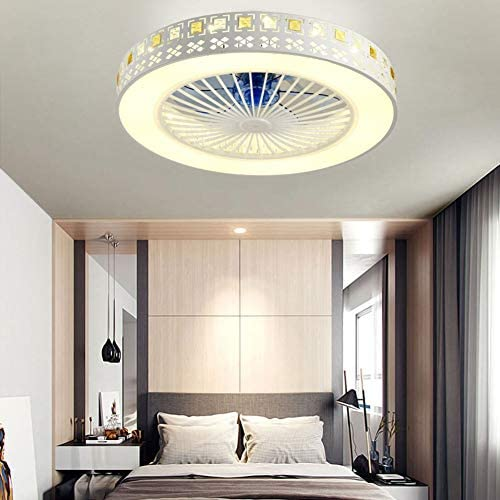 Ceiling Fan with Lighting, Ceiling Fan with Lighting And Remote Control Function, Three Speeds And Three Colors of Lighting Fixtures, Used in Bedroom, Living Room And Dining Room