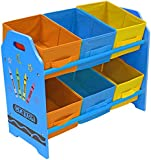 Kiddi Style Children's Sized Unit with 6 Storage Boxes