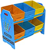 Bebe Style Children's Sized Unit with 6 Storage Boxes