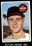 1969 Topps # 249 Ed Spiezio San Diego Padres (Baseball Card) Dean's Cards 2 - GOOD Padres