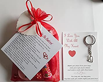 Boyfriend Survival Gift Kit With A Heart Charm Wish Keyring Included Lovely Fun Novelty