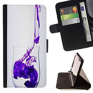 For Samsung Galaxy S6 EDGE (NOT S6) Plus / S6 Edge+ G928 Case , Minimalista Limpio Diseño púrpura- la tarjeta de Crédito Slots PU Funda de cuero Monedero caso cubierta de piel