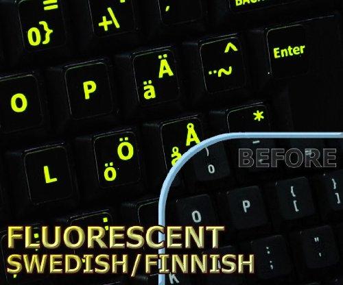 Price comparison product image Glowing fluorescent Swedish/Finnsh keyboard sticker