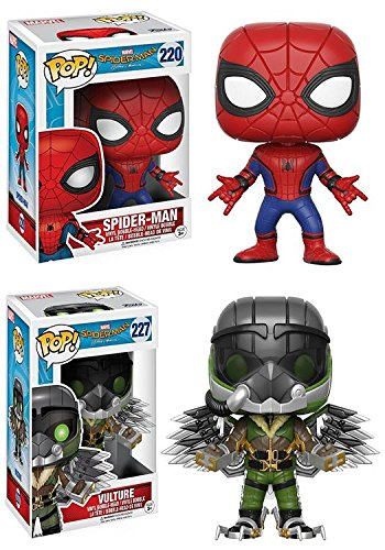 Funko POP  Spider-Man Homecoming  Spider-Man + The Vulture - Marvel Vinyl Bobble-Head Figure Set NEW