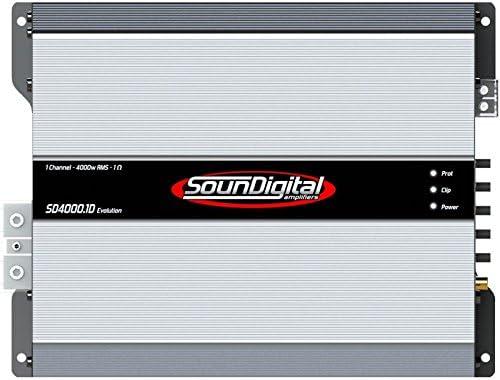 Amazon com: sound digital SD40001DEVO2 Ω 4000W Rms, 2 Ohms, 1