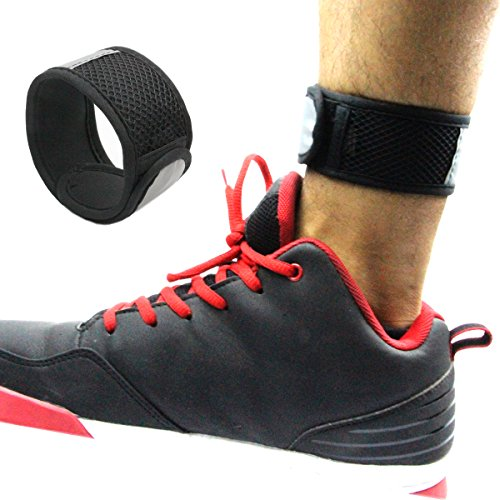 Reflective Ankle Wear Band with Mesh Pouch for Fitbit Flex/ 2, Fitbit One, Fitbit Zip, Fitbit Alta/HR, Fitbit Charge 2 Activity Tracker Give your A More Accurate Count While Biking