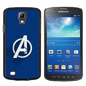 Qstar Arte & diseño plástico duro Fundas Cover Cubre Hard Case Cover para Samsung Galaxy S4 Active i9295 (Vengar Superheroes)
