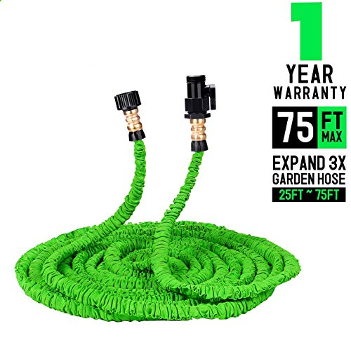 Keelyn Garden Hose – All New Expandable Water Hose, 50ft Flexible Expanding Hose Pressure Water Hose with 3/4″ Brass Fittings & Triple Layer Latex Core & Latest Improved Extra Strength Fabric
