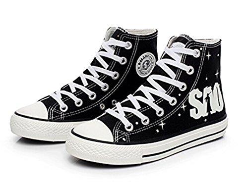 Bromeo Sword Art Online Unisex Segeltuch Hallo-Spitze Sneaker Trainer Schuhe Leuchtend