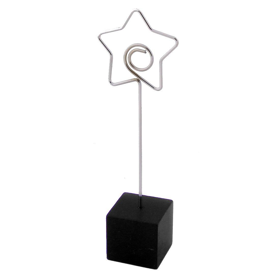 sourcingmap® Ufficio domestico resina a forma stella decorazioni da tavolo Foto Card Memo nero Clip SYNCFHK025242