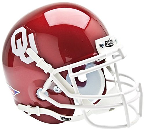 (OKLAHOMA SOONERS NCAA Schutt XP Authentic MINI Football Helmet)