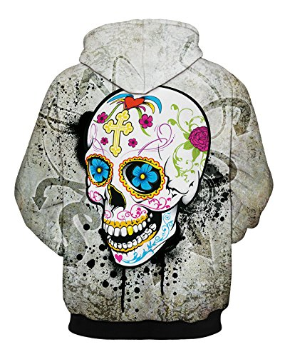 Sudadera Leezeshaw Mujer Painting Para Skull 1gqgdS