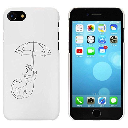 Blanc 'Chat avec un Parapluie' étui / housse pour iPhone 7 (MC00061948)