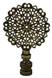 Royal Designs Traditional European Filigree Lamp Finial for Lamp Shade- Antique Brass