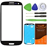 CrazyFire® Black Replacement Screen Lens Glass For Samsung Galaxy S3 SIII I9300 I747 L710 T999 I535+Tools Kit+Adhesive Tape