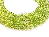 Natural Peridot Plain Round Beads, Smooth Round Beads, 5-6mm, 13 inches, Green Beads, Gemstone Beads, Semiprecious Gemstone Beads