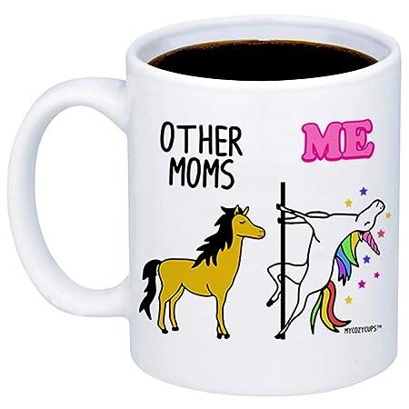 Wistty Regalos para mamá - Taza de café de Unicornio para ...