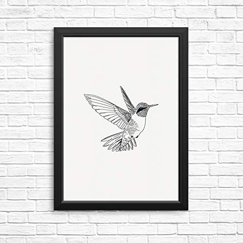 Sincerely, Not Hummingbird Modern Wall Decor Art Print Poster- 8