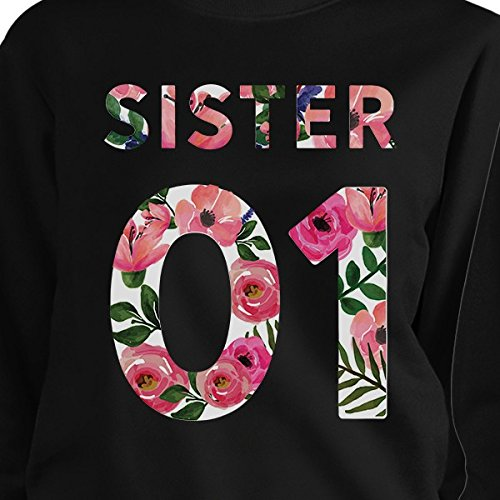 Sweat 365 Femme Taille Manches Unique 01 Sister Longues shirt Printing Black OOrxfT5