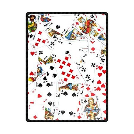HommomH 60'' x 80''Soft Blanket Air Conditioning Popular Playing Poker by ''HommomH''