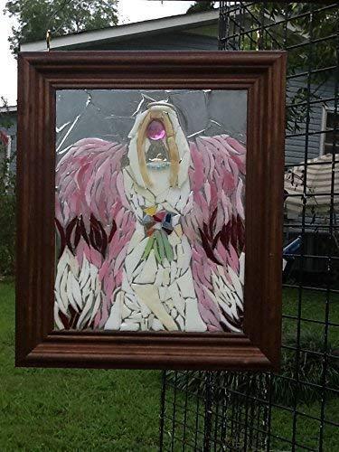 Angel stained glass Window Art Sun Catcher, Christian Art