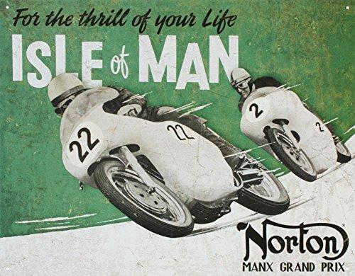 Lowpricedstuff Norton - Isle of Man Metal Tin Sign 16