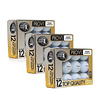 36 Titleist ProV1 2017 AAAAA Mint Refinished Used Golf Balls Gold Foil Pack