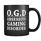 Gamer Mug OGD Obsessive Gaming Disorder in Black - Funny Gamer Gift