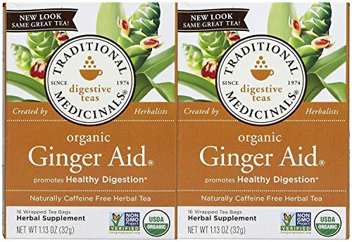 Traditional Medicinals Organic Ginger Aid Herbal Wrapped Tea Bags - 16 ct - 2 Pack ()
