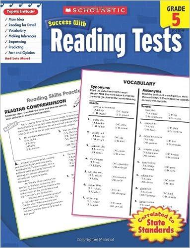 Amazon.com: Scholastic Success With Reading Tests, Grade 5 ...