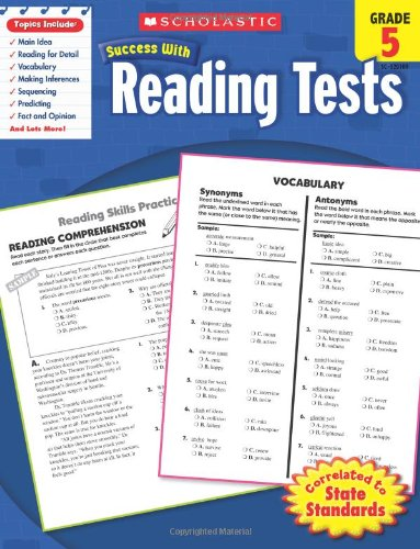 Writing Grammar Tests - Scholastic Success With Reading Tests, Grade 5 (Scholastic Success with Workbooks: Tests Reading)