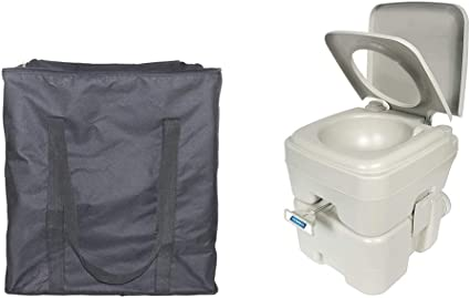 Amazon Com Portable Toilet Storage Bag Standard 5 3 Gallons Portable Toilet Carrying Case Heavy Duty Oxford Rv Toilet Protector Cover Great Accessories For Transporting And Protectyour Camping Toilet Rv Toilet Sports