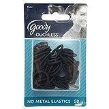 Goody Womens Classic Shiny Mini Black Elastics No Metal 50-Pieces