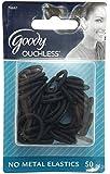Goody - Women's Classic Shiny Mini Black Elastics, No Metal, 50 Pc, GD-76661