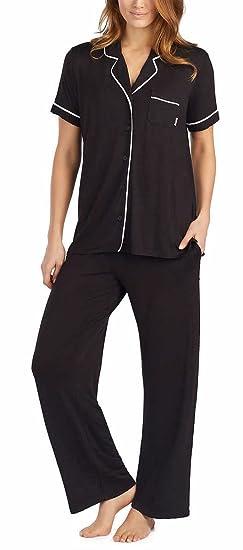DKNY Womens 2-Piece Notch Collar and Pant Pajama Set at Amazon Women s  Clothing store  8b857bac6