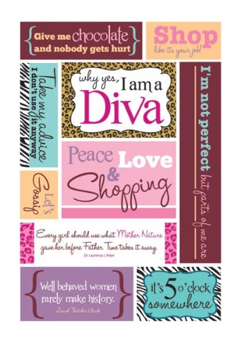 (Momenta Sassy Diva Sticker Embossed)