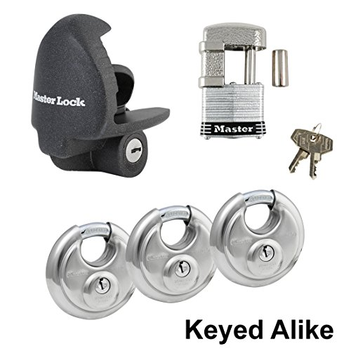 Coupler Padlock - Master Trailer Locks-5 Master Lock - 5 Trailer Locks Keyed Alike #5KA-37940-37