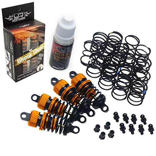 Yeah Racing DSG-0050OR Orange Shock-Gear 50mm Damper Set for 1/10 RC Touring Car