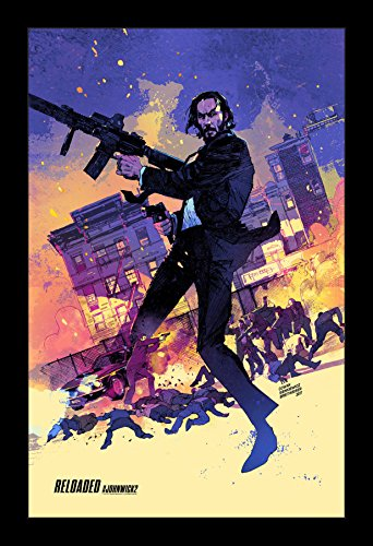 John Wick Chapter Two - 11x17 Framed Movie Poster by Wallspa