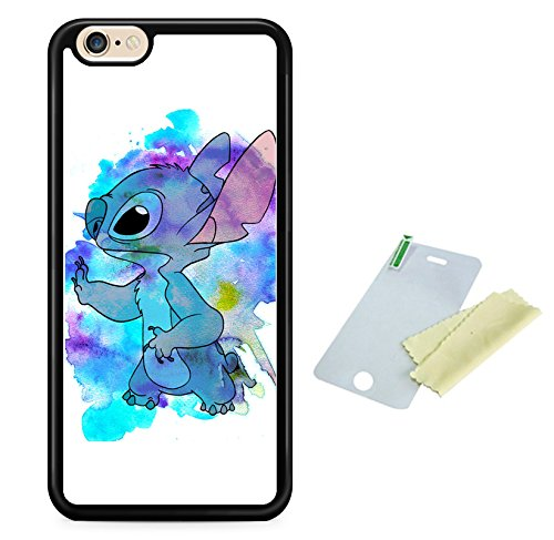 Coque silicone BUMPER souple IPHONE 7 PLUS -LILO & STITCH mignon motif 1 DESIGN case+ Film de protection OFFERT