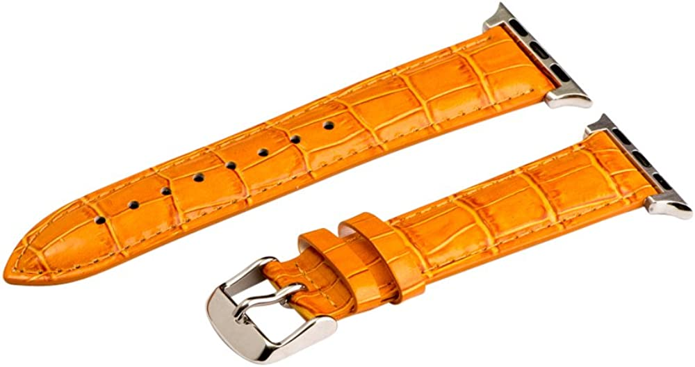 Clockwork Synergy - 42mm Croco Leather Watch Bands for Apple Watch