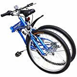 "GHP Matte Blue 7-Speed Shimano 26"" Foldable Mountain Bicycle"