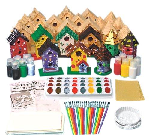 NRS Healthcare M01060 - Set de decoración con diseño de casas de pájaros, 24 piezas