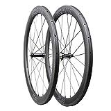 ICAN FL50 Carbon Road Bicycle Wheelset Clincher Tubeless Ready Rim Novatec AS511SB/FS522SB Hub