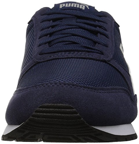 PUMA Unisex-Kids ST Runner V2 Mesh Sneaker, Peacoat White, 2 M US Little Kid by PUMA (Image #4)