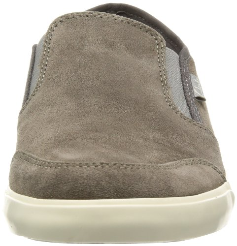 CLARKS Clarks Mens Shoe Torbay Slipon Dark Grey Sde