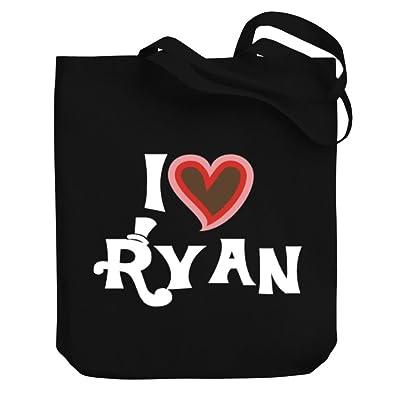 a63c8b05c2b Teeburon I LOVE Ryan Canvas Tote Bag  Amazon.co.uk  Shoes   Bags